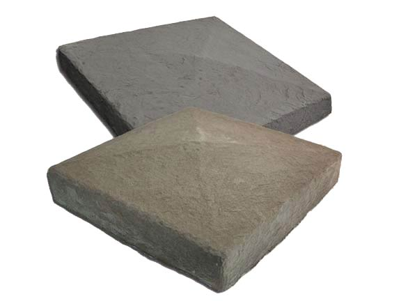 Stone Column Caps : Column pyramid post cap m rock stone solutions
