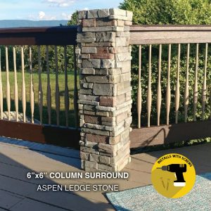 Aspen Ledge Stone Post Surround