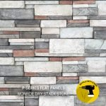 Monroe Dry Stack Stone Flat Panels