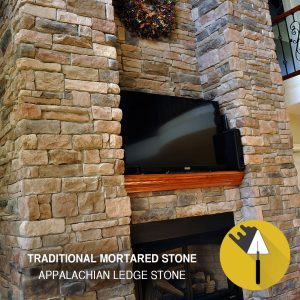 Appalachian-Ledge fireplace