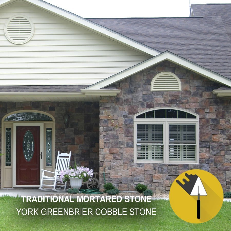 Greenbrier Exterior: Installs With Mortar. Natural Looking Stone