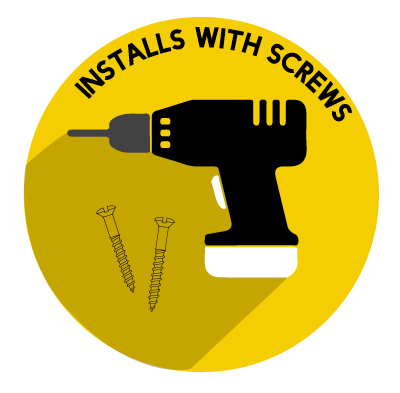 Installs with Screws