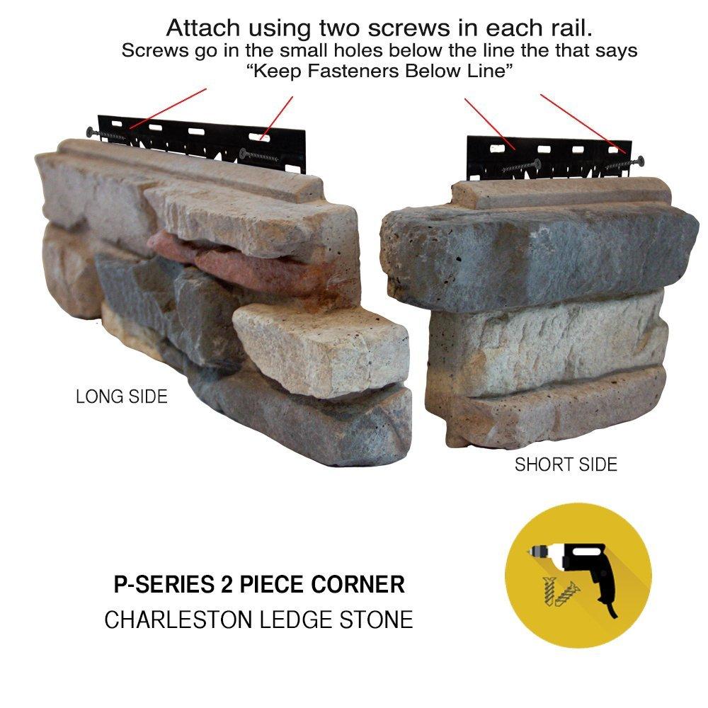 2 piece corner stones