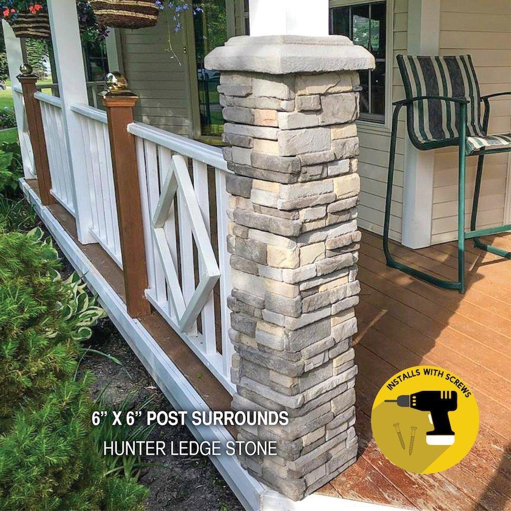 Hunter Ledge Stone Post Surround