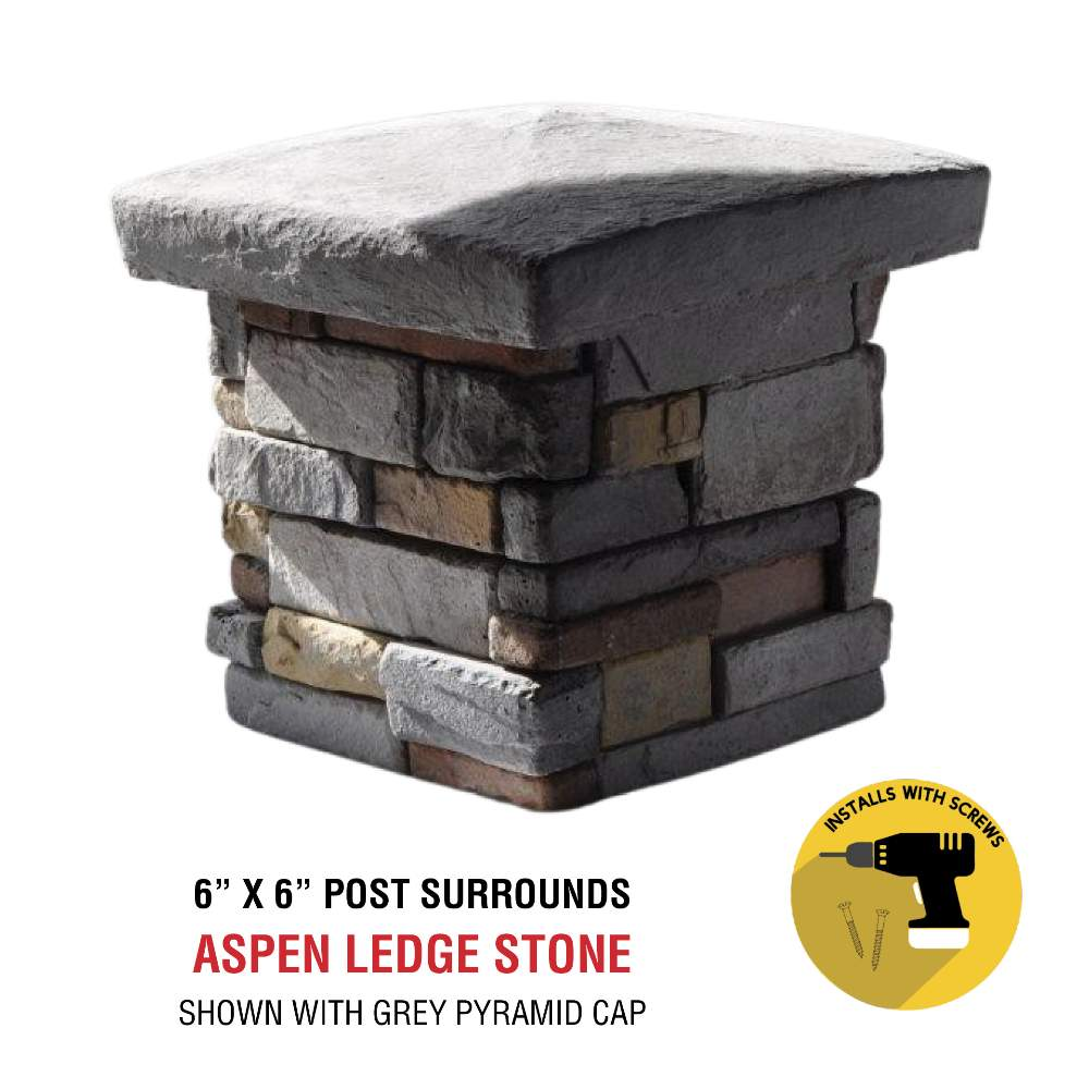 Aspen 6x6 with post cap