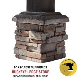 Buckeye 6x6 post surround