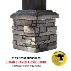 Cedar Branch 6x6 post surround