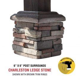 Charleston 6x6 post surround