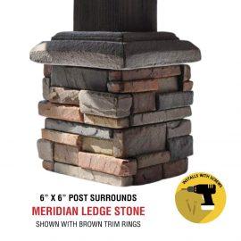 Meridian 6x6 post surround